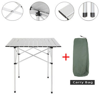 £21.99 • Buy 70cm Folding Camping Table Small Lightweight Portable Outdoor Picnic Caravan BBQ