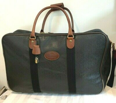 £499 • Buy Mulberry Black Scotch Grain Large Wheeled Suitcase Holdall Weekend Bag VGC
