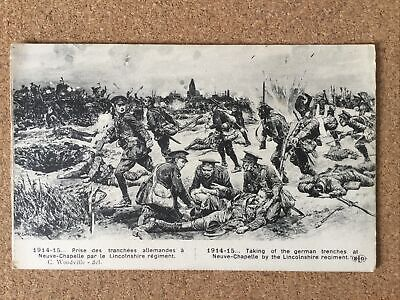 £7.50 • Buy WW1 Postcard Taking Of The Trenches Lincolnshire Regiment R Caton-Woodville