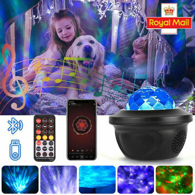 £10.99 • Buy Galaxy Star Night Lamp LED Music Starry Sky Projector Light Ocean Wave W Remote