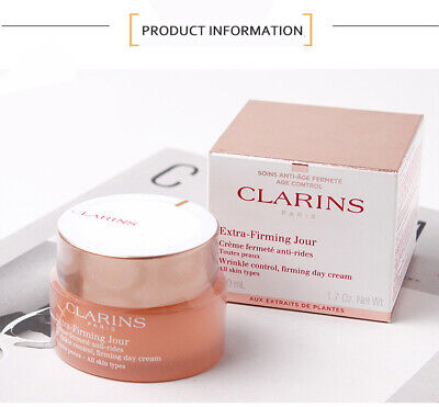 £19.88 • Buy Clarins Extra Firming Jour Wrinkle Control Firming Day Cream For Dry Skin 50ml