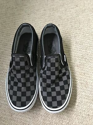 £8 • Buy VANS Checkerboard Classic Slip On Shoes UK Size 4