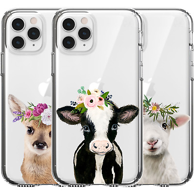 AU16.95 • Buy Silicone Cover Case Animal Cute Pet Deer Sheep Cow Bovine Flowers Baby Lashes
