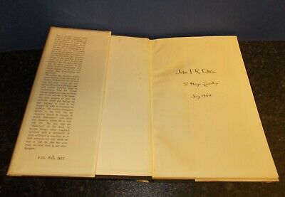 £125 • Buy Signed. John F R Tolkien. Lord Of The Rings Authors Eldest Son. 1948 Book.