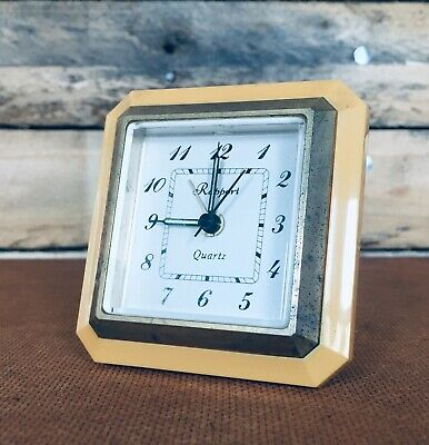 £4.50 • Buy Retro Vintage Collectable Travel Alarm Clock In Yellow/Gold By Rapport