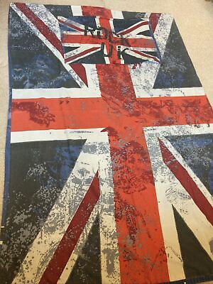 £6.99 • Buy Union Jack Rock UK Single Duvet Cover And Pillowcase. Good Condition.
