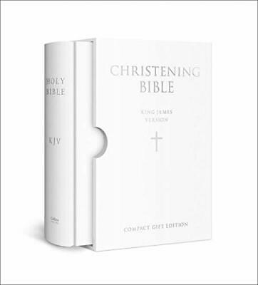 £13.72 • Buy HOLY BIBLE: King James Version (KJV) White Compact Christening Edition (Leather