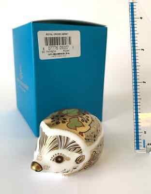 £59.95 • Buy Royal Crown Derby Paperweight 1st Quality Boxed 'Ivy Hedgehog' Gold Stopper (1)