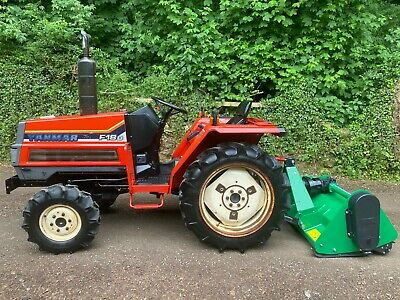 £4995 • Buy 18HP Yanmar F18D 4WD Compact Tractor & New Flail Mower *** WATCH VIDEO ***