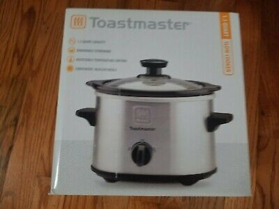 $ CDN4.85 • Buy Toastmaster 1.5 Qt Stainless Steel Slow Cooker Crock Pot NEW In Box