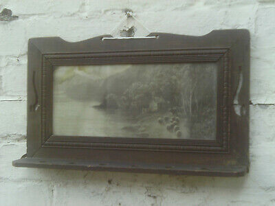 £16 • Buy Antique Wooden Pipe Display Rack -Has Picture Of Cattle & Sheep