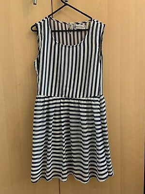 £3 • Buy Hearts And Bows Nautical Skater Dress Size 12