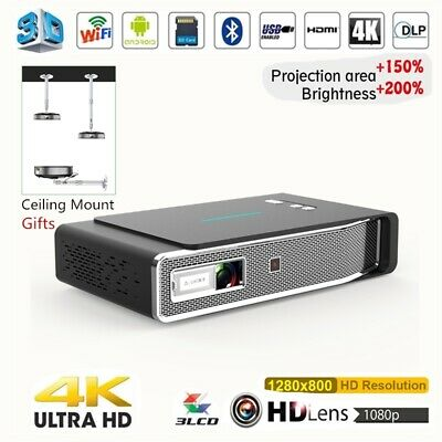 £289.55 • Buy NEW 8500 Lumens DLP Android 4K HD 1080P 3D Home Cinema Projector Wifi HDMI SD UK