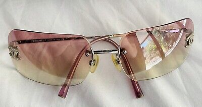 £336.30 • Buy Chanel Sunglasses Frameless Pink 4017-D C.124/58 With Original Case And Box