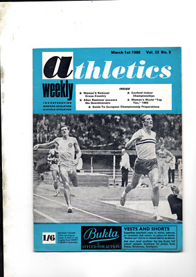 £5.08 • Buy Athletics Weekly The Athletes Magazine March 1st 1969 Good Condition