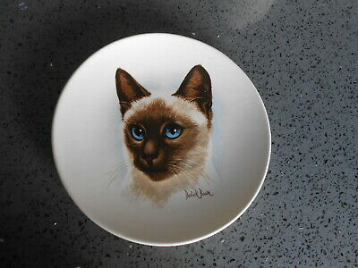 £6 • Buy  Poole Pottery  Small Cat Plate Hard To Find Siemiese Approx  15 Cm Across