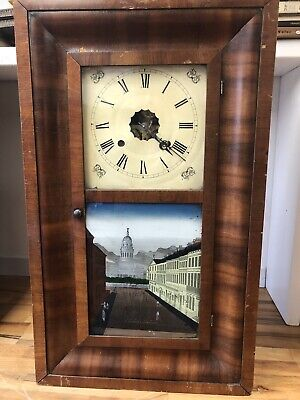 £40 • Buy American Wall Clock Oh Late 1900th Century
