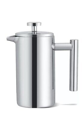 £9.99 • Buy 6Cup 800ML Modern Cafetiere French Press Coffee Maker Stainless Steel Plunger UK