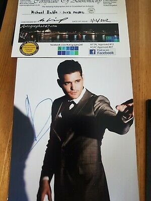 £25 • Buy 10 X 8 Signed Michael Buble Photo With COA