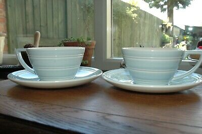 £7.50 • Buy Two Jasper Conran, Wedgwood Blue Cups And Saucers.
