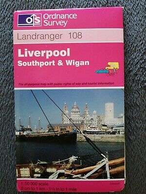 £0.99 • Buy Liverpool, Southport And Wigan By Ordnance Survey (Sheet Map, Folded, 1997)