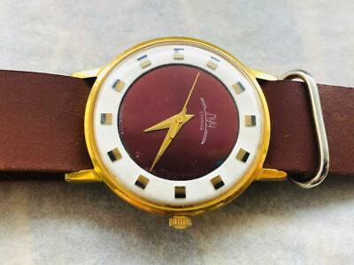 £63.39 • Buy Vintage Luch Ultra Slim Watch Mechanical Cal.2209 Gold Plated , Leather Strap