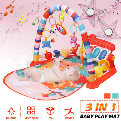 £17.54 • Buy 3 IN 1 Baby Gym Mat W/Play Piano &Hanging Funny Toys Infant Activity Playmat