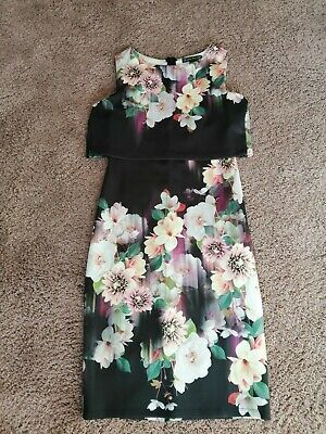 £13.99 • Buy Ladies Lipsy Jessica Howard Purple Floral Print Special Occasion Dress Size 8