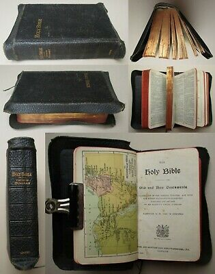 £14 • Buy ANTIQUARIAN LEATHER YAPP BOUND HOLY BIBLE Eyre & Spottiswoode The Kings Printers