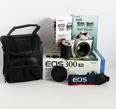 £1.99 • Buy Canon EOS 300 35mm Film Camera Body Only With Built-in Flash