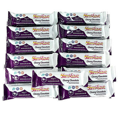 £13.52 • Buy 25 Chewy Chocolate LowCarb HighProtein Meal Replacement VLCD Diet Bars Slim&Save