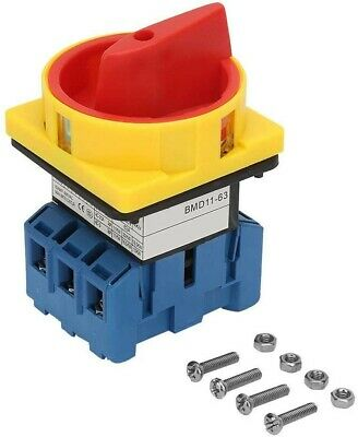 £16.41 • Buy Changeover Switch 63A 3-Pole 2-Position Load Circuit Breaker Switch Rotary