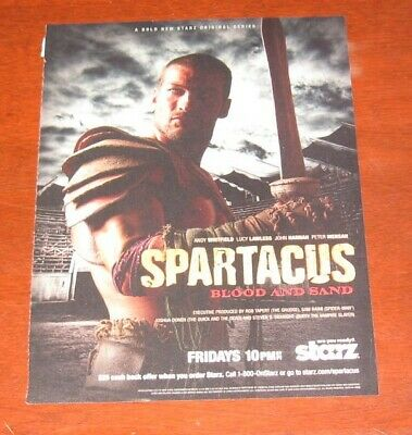 £11.55 • Buy Spartacus ANDY Whitfield ONE (1) FULL PAGE Magazine CLIPPING Photo Advertisement