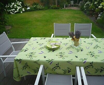 £18.83 • Buy Tablecloth Provence 150x200 CM Olives Green From France Non-Iron Easy-Care