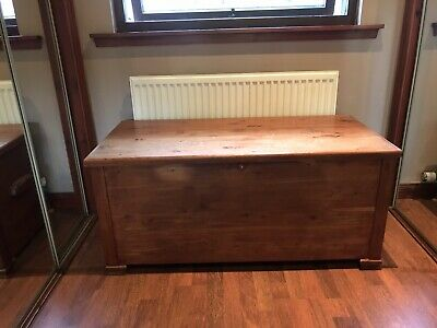 £45 • Buy Vintage Wooden Chest Trunk