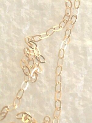 £33 • Buy 9 Ct Gold Nice  Detailed  Chain  22  Inch Trace  #444