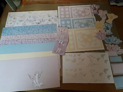 £1.40 • Buy Card Making Bundle.Fairies Flowers Butterflies .Cards Toppers.  Foiled Glittered
