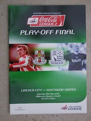 £0.99 • Buy League 2 Play-off Final Lincoln V Southend Millenium Stadium 28th May 2005