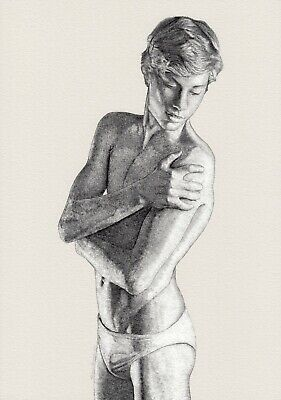 £27.24 • Buy Ltd 1/5 Pigment Print Drawing Nude Fit Male Gay Interest By Etienne Benassi