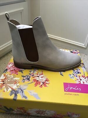 £9.90 • Buy Joules Women's Cream And Silver Leather Ankle Boots Size 39 (6) Brand New In Box