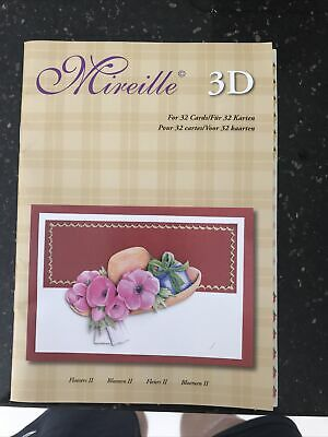 £4.29 • Buy Mireille 3D Card Toppers - For 32 Cards - Flowers