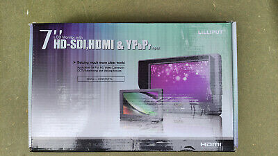"""£58 • Buy Lilliput 7"""" LCD Monitor 667GL- 70NP/H/Y/S With HD-SI, HDMI, & YPbPr Inputs"""