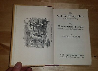 £14.99 • Buy CHARLES DICKENS THE OLD CURIOSITY SHOP & UNCOMMERCIAL TRAVELLER, Queensway C1900