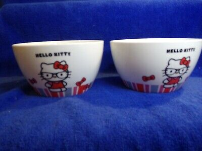 £14.15 • Buy 1976-2012 Sanrio Co Hello Kitty Cereal Bowl Lot Of 2