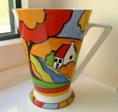 £14.99 • Buy Past Times Clarice Cliff Style River Cottage Design Fine China Deco Mug Unused