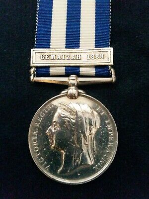 £27 • Buy Victorian Egypt Medal With 'GEMAIZAH 1888' Clasp To Kings Own Scottish Borderers