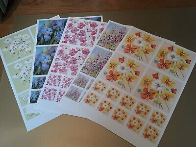 £1.20 • Buy Card Making Topper Sheets A4 X 5. Non Die Cut Assorted Flower Images