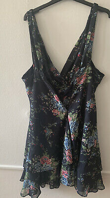 £15 • Buy Kate Moss For Topshop Boutique Unique Layered Floral Dress Size Uk16 14