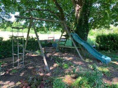 £1 • Buy Houtland Outdoor Climbing Frame With Slide And Swing Bar