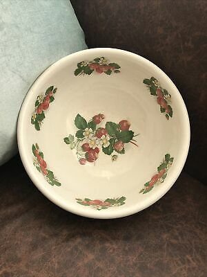£15.99 • Buy Portmeirion - Strawberries Serving / Mixing Bowl 24cm - Shows Crazing